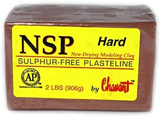 Chavant Clay - NSP Hard Brown - Sculpting and Modeling Clay (1/4 Case)