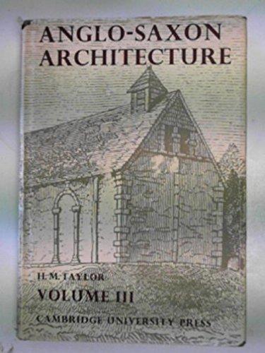 Price comparison product image Anglo-Saxon Architecture: Volume 3