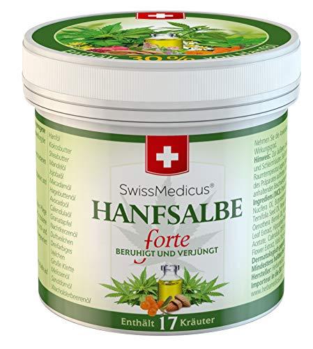 SwissMedicus - Hanfsalbe forte - 30% Hanf-Aktivgel - für problematische Haut geeignet - bei Akne - Ekzem und Schuppenflechte - Naturkosmetik Hanf-Creme - 100% - Vegan Hanfsalbe - 125 ml