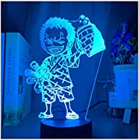 3Dイリュージョンナイトライト アニメ少年 スマートタッチ キッズ3D目の錯覚7色LEDナイトライトボーイキッズおもちゃベビースリープデスクランプ寝室の装飾誕生日クリスマスクリエイティビティギフト