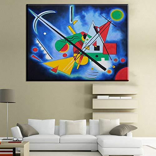 Pintura al óleo sin Marco Embellecer imágenes abstractas de Wassily Kandinsky HD Canvas Oil Ng Modern Home Decor Wall Art Poster para L40x60cm