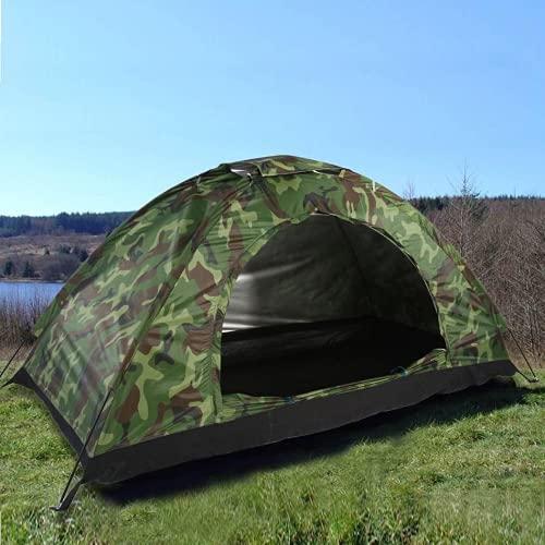 HOLDLAMP Zelt für 1 Personen Wurfzelt Camping Ultraleicht Wasserdicht Schnellaufbau Vorzelt Klein mit Heringe Haken Zelt Tasche für Kinder Familie Camping Garten Trekking Party - Camouflage