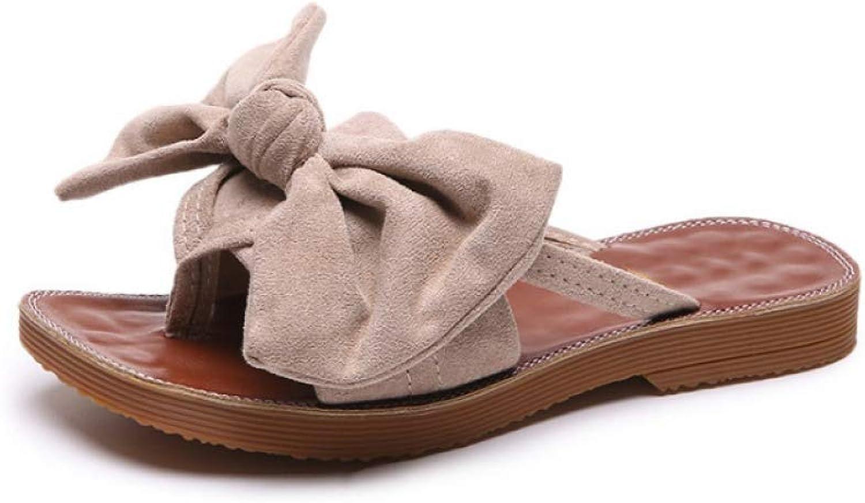 JOYBI Women's Bow-Tie Slides Sandals Comfortable Casual Beach Walk Outdoor Indoor Low Platforms Slip On Flats