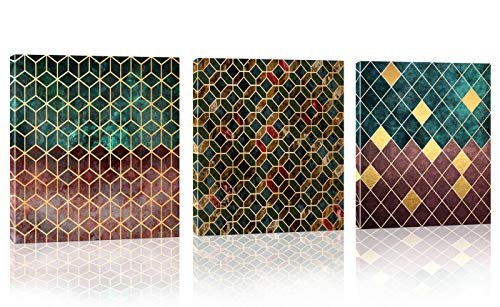 3 panels Cube Abstract Wall Art for living room Bedroom Office Home Artwork Decoration Modern Abstract Picture Canvas Prints Size: 14x14inch