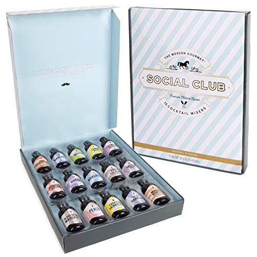 Modern Gourmet Foods - Natural Cocktail Mixers - Geschenkbox Mit 15 Verschiedenen Cocktail-Mischungen