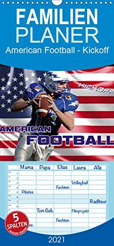 American Football - Kickoff - Familienplaner hoch (Wandkalender 2021, 21 cm x 45 cm, hoch)