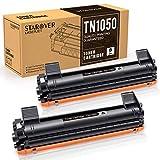 STAROVER Cartucho de Tóner Compatible Repuesto para TN1050 TN-1050 para Brother HL-1110 DCP-1510 HL-1210W DCP-1610W HL-1112 MFC-1810 HL-1212W MFC-1910W DCP-1612W DCP-1512 (2 Negro)