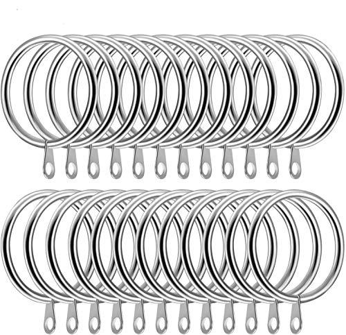 Sunnysam 20Pcs Metal Curtain Rings Curtain Drape Pole Rod 45mm Internal Diameter