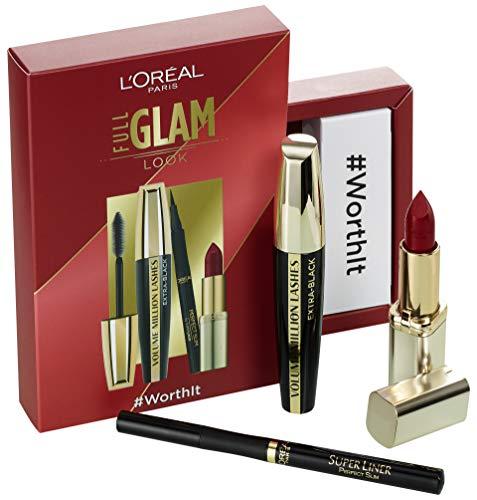 L'Oréal Paris 'Full Glam'-Set: Volume Million Lashes Extra Black + Superliner Perfect Slim...