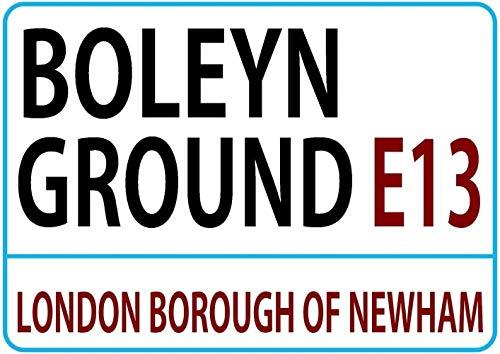 Boleyn Ground London Street West Ham Football Vintage metalen bord bord retro tin schild muur decor metaal poster deco schild yard pub geschenk