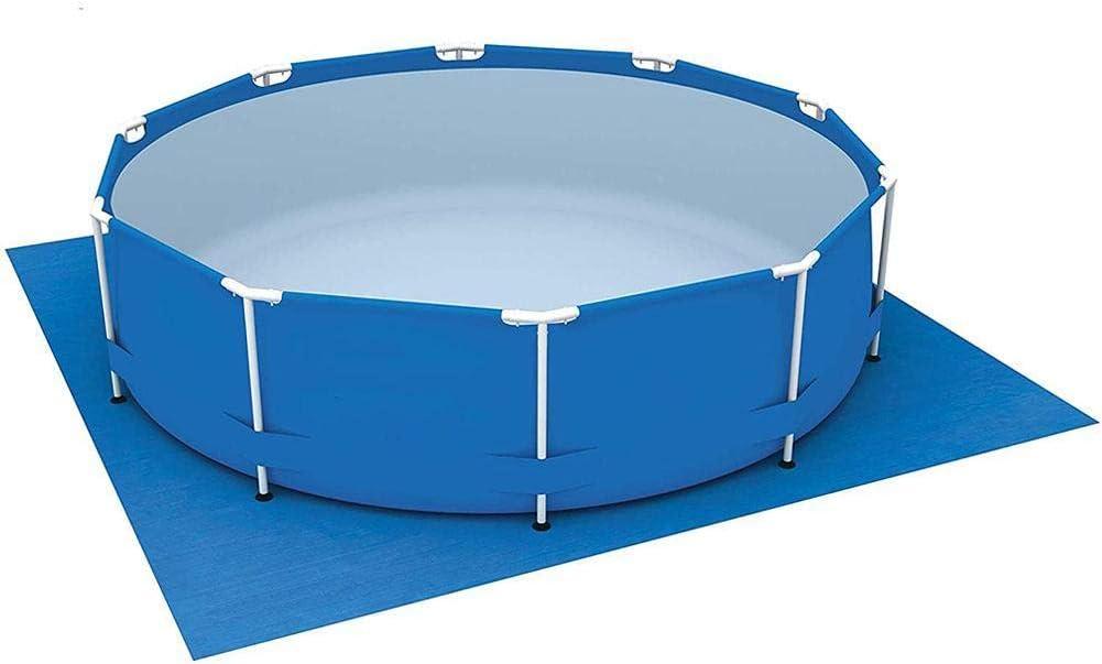Toruiwa - Alfombra de suelo para piscinas redondas, cuadradas, hinchable, protector de fondo de piscina rectangular, piscinas fuera de la Tierra 274 x 274 cm, color azul