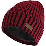 Vmevo Wool Cuffed Beanie Hat Warm Winter Knit...