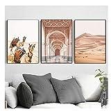 nr Kamel Wüste Landschaft Nordic Poster Marokko Tür Und