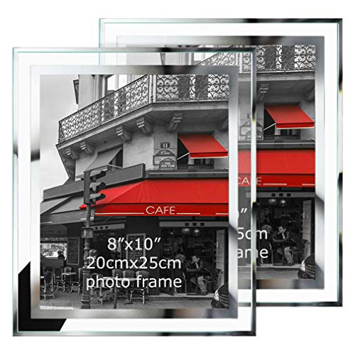 Giftgarden 8x10 Picture Frames 2 Pack Glass Picture Frame Vertical Horizontal Tabletop Standing Frames
