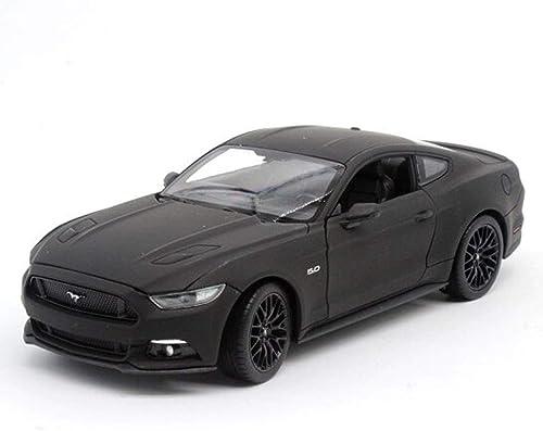 estilo clásico KKD Escala Modelo Simulación Vehículo 1 24 24 24 Ford Mustang Mate Modelo de Coche negro Aleación Modelo de Coche Ornamentos añornos Para Enviar Regaño de Cumpleaños Masculino ( Color   Matte negro )  calidad auténtica