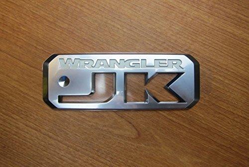 Mopar Jeep Wrangler JK Silver & White Emblem Sticker Decal OEM