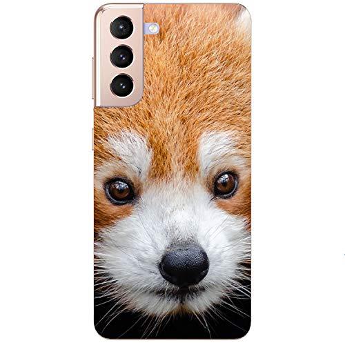 Funda blanda para teléfono móvil, diseño de mapache, color rojo