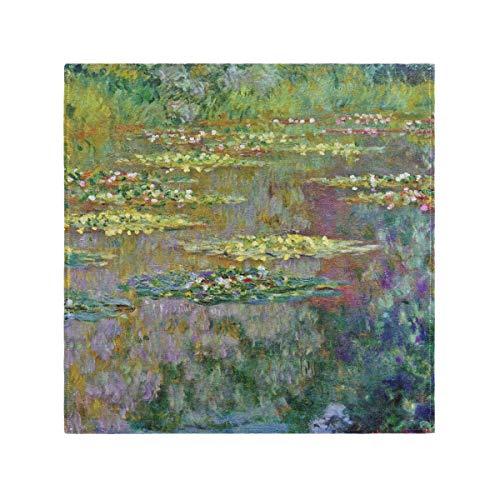 XiangHeFu Outdoor Tisch Abendessen wiederverwendbar waschbar 20 x 20 Zoll Seerosen Monet Malerei leicht zu Tuch Servietten reinigen