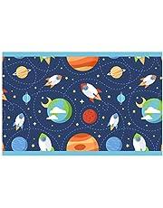 I-love-Wandtattoo Cenefa Autoadhesivo para niños Espacio Cohetes y Planetas Dormitorio Infantil d