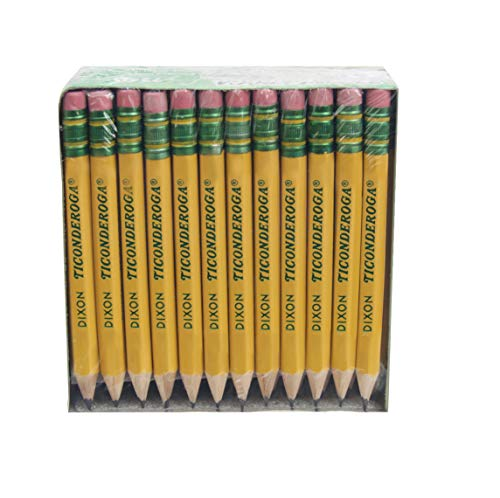 Dixon Ticonderoga Company Golf Pencil, Ticonderoga, 3.5', 72/Box, Yellow (DIX13472)