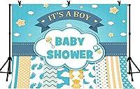 テーマの背景を明らかにするHD 10x7ftの性別赤ちゃんの性別を明らかにする男性のベビーシャワーの背景テーマパーティーのベビーシャワーの写真の背景LYLS842