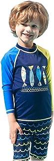 FEVON 水着 子供 男の子 セパレート ラッシュガード ハーフパンツ 上下セット スイムウェア キッズ ボーイズ UVカット プール 海遊び 海水浴 可愛い スイミング 100-160