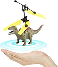 RC Flying Dinosaur, Mini Induction Sensing Hand Suspension Flying Dinosaur with LED RC Aircraft Toy Drone