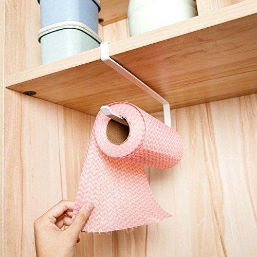 THEE Küchenrollenhalter Papierrollenhalter Haushaltsrollenhalter Schrank Regal Rollenhalter für Küche Handtuch Aluminium Folie Küchenpapier