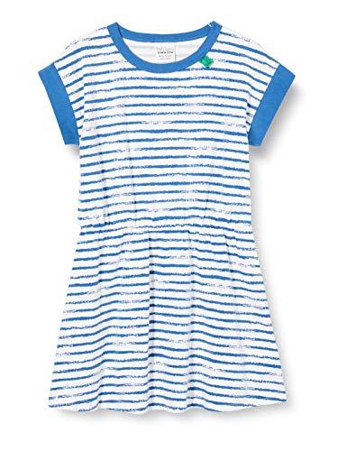 Fred'S World By Green Cotton Ocean Stripe Dress Robe, Bleu (Blue 019403901), 86 Bébé Fille