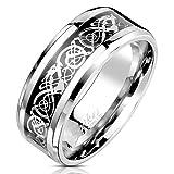 Bungsa® Unisex-Ring keltisches Tribal aus 316L Edelstahl (62 (19.7))