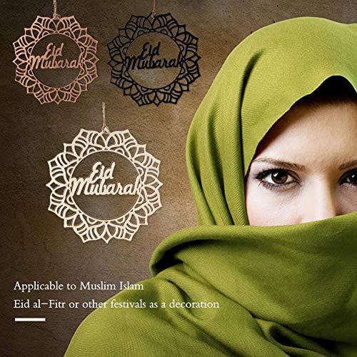 Makluce Eid al-Fitr 3PCS Wooden Islam Eid Ramadan Mubarak holle decoraties slinger tekst hanger Realistic