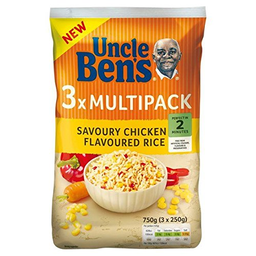 Uncle Bens Savoury Chicken Flavoured Rice Multipack 3 x 250g