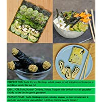 Sushi Nori Seaweed Sheets - Rich Flavour, 50 Pack, Top Grade (Gold), Baked May 2020, Straight from Family Farm in South… 7