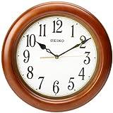 Seiko 12' Round Wood Classic Wall Clock