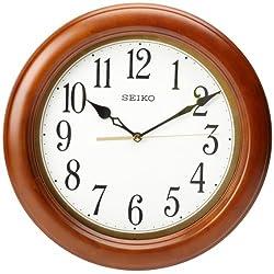Seiko 12 Round Wood Classic Wall Clock