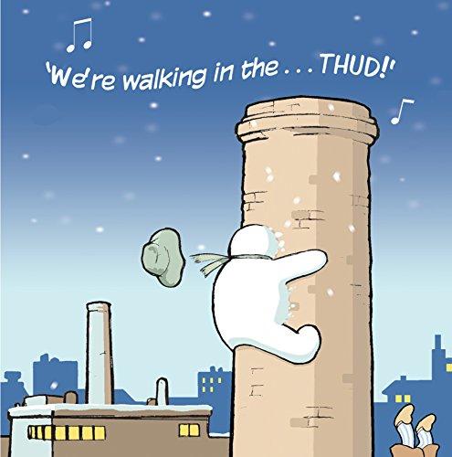 Tarjetas de navidad divertidas de Twizler con Drunk Snowman y Walking in the Air, para mujeres y hombres