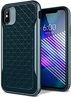 Caseology Apex for Apple iPhone Xs Case (2018) / for iPhone X Case (2017) - 3D Pattern Design - Aqua Green