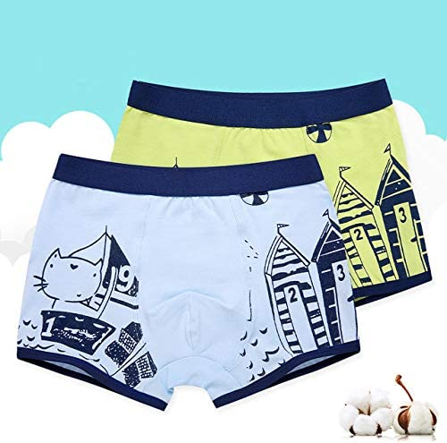 Boy Underwear Kids 2020 95% Cotton Soft Cartoon Panties 2-14 Years Children Underpants,Blue,6T
