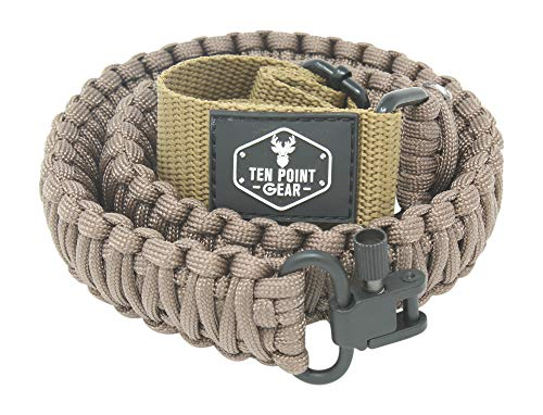 Ten Point Gear Gun Sling Paracord 550 Adjustable w/Swivels (Multiple Color Options) (Coyote Brown)