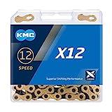 "KMC X12 Ti-n Chain, Catena Unisex Adulto, Gold/Black, 1/2"" x 11/128"""