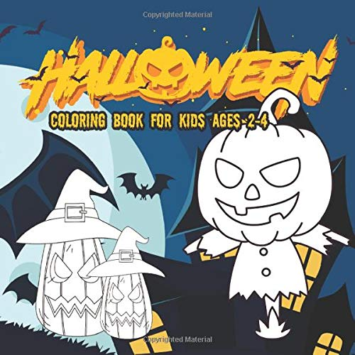 Halloween Coloring Books for kids ages 2-4: Coloring Book For Creative Children pumpkins design (hal