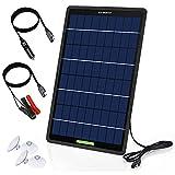 ECO-WORTHY Caricabatteria da auto solare 12V 10W, carica galleggiante per pannello solare ...