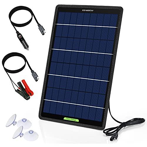ECO-WORTHY 12V 10W Panel solar cargador de goteo Mantenedor de energía kit de respaldo...