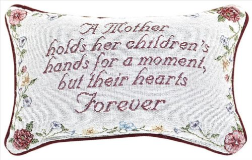 Manual Woodworkers and Weaver Embroidered Word Pillow, 12.5 by 8.5-Inch