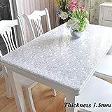 JYAcloth PVC Imperméable Protection De Table, épaissir Résistants à La Chaleur Antidérapant Nappe,rectangulaire Plastique...