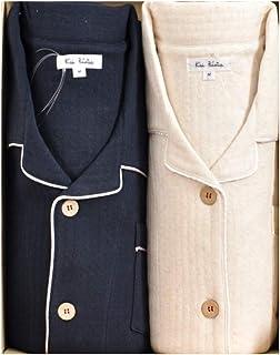 ケーズアイ 綿100%あたたか中わたニットキルト ペアパジャマ 長袖?長ズボン 冬?防寒向き素材