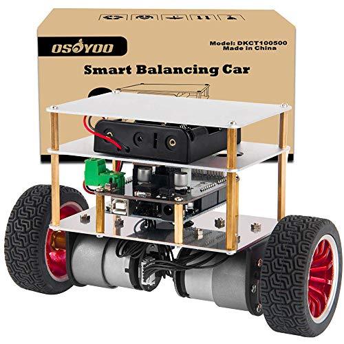 OSOYOO RC Zweirad-Selbstbalancierendes Roboter-Auto-Kit für Arduino UNO R3 DIY Programmierbares Starter-Set, Bluetooth-Fernbedienung durch Android Smart Phone …