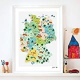 byGraziela Poster Deutschlandkarte