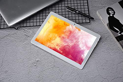 Haehne 10.1 Zoll Tablet PC, 3G Phablet, Google Android 8.1, Quad Core 2GB RAM 32GB ROM, Zwei Kameras, 1280 x 800 HD Bildschirm, 4500mAh, Bluetooth, WiFi (Silber)
