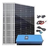 1200W Solar Panel Kit Home Grid Tie System On Grid Solar Kit : 10pcs 120W Monocrystalline Solar Panel + 1000W MPPT Solar Grid Tie...